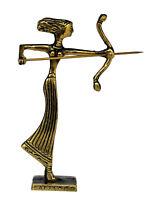 Artemis mini Bronze figure - Ancient Goddess of Hunt - Diana Mistress of Animals