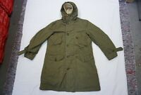 Rare Vintage US Army Extreme Cold Weather Arctic Alaskan Parka Coat Wool Lined