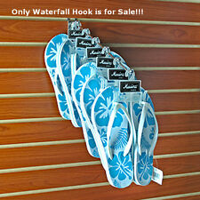 Silver Six Station Chrome Waterfall Hook 13.5 Long Inches - Box of 10