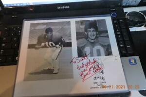 Nebraska Cornhusker - autographed photograph # 10 Bret Clark Herbie Husker