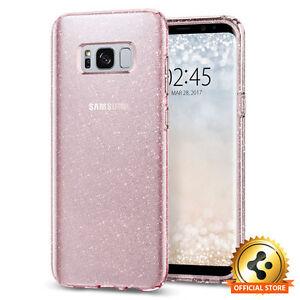 Spigen Galaxy S8 Plus Case Liquid Crystal Glitter Rose Quartz