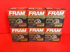 Lot of 6 Engine Oil Filter-Ultra Synthetic Fram Ultra XG6607  for Honda,Nissan,
