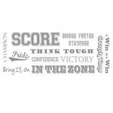 Sports Phrases Sudden Shadow Mini Mural Peel and Stick Applique 02130