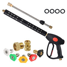 Pressure Washer Gun With Extension Wand 5 Spray Nozzle Tips
