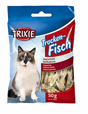 2805 Trixie Dried Fish - Anchovies - High Quality Protein Cat Treats 50g x 1