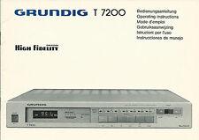 Grundig t7200 Manual BDA manuale d'uso