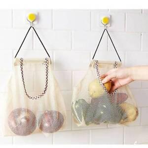 Kitchen Hanging Storage Bag for Fruit Vegetable Mesh Polyester Net Bag.
