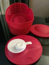Tupperware Salad Spinner Bowl Spin N Save 4 Qt  New