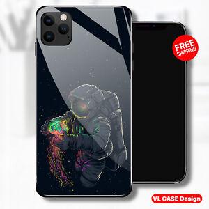 Dark fantasy astronaut Glass Phone Case Samsung Huawei iPhone Xiaomi Gift