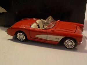 N Die cast 1957 Chevrolet Chevy Corvette 1:24 Scale Red
