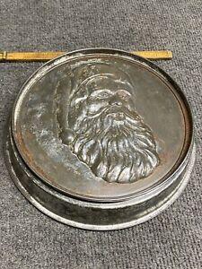 "Vintage Santa Claus 8-1/2"" cake pan Jell-O chocolate mold"