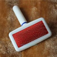 Red Puppy Pet Dog Cat Hair Grooming Slicker Comb Gilling Brush Quick Clean Tool
