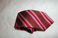 Joseph& Lyman Red Striped Silk Tie