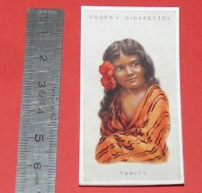 CIGARETTES CARD OGDEN'S 1923 CHILDREN OF ALL NATIONS N°45 TAHITI
