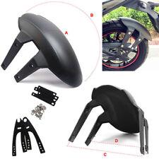 Racing Motorcycle Rear Wheel Fender Cover Splash Guard Mudflap Black w/ Brackets