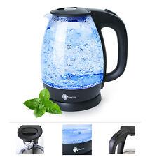 2200 Watt Glas Wasserkocher 1,7 Liter Blaue LED Beleuchtung Teekocher