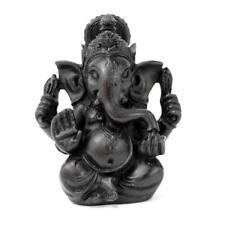 "GANESHA STATUE 3.5"" Small Black Resin Hindu Elephant God Lord India Figurine NEW"