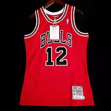 100% Authentic Michael Jordan Mitchell Ness Bulls #12 V-Day Jersey Size 40 M
