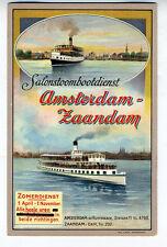 1920s Advertising Postcard of the Ferryboat Amsterdam Zaandam