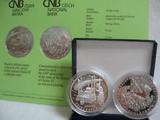 República Checa 2008 200 coronas moneda de plata coin pp proof-vitícolas el rey Carlos IV