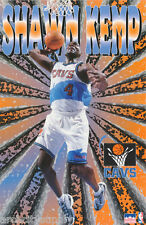 LOT OF 2 POSTERS:NBA BASKETBALL : SHAWN KEMP  CLEVELAND CAVS    #3013 LP44 S