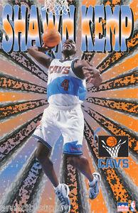 POSTER:NBA BASKETBALL : SHAWN KEMP  CLEVELAND CAVS - FREE SHIP #3013 LP44 S