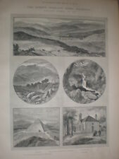 Balmoral 1885 old prints and article