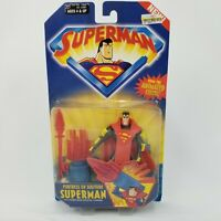 "NOS Kenner 2001 Fortress of Solitude Superman Animated Show 5"" Action Figure Toy"