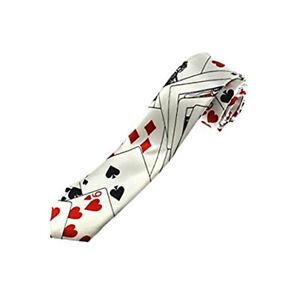 Zac's Alter Ego® Playing Cards Tie - Fancy Dress/ Poker/ Casino Accessory