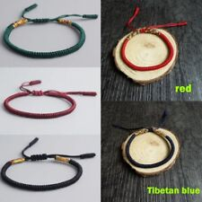 Fashion Women Men Buddhist Love Lucky Charm Tibetan Bracelets Bangles Knot Rope