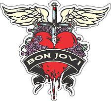 """Bon Jovi Music Bumper sticker, wall , vinyler, bumper 5""""x 4.5"""""""