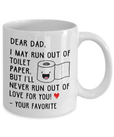 Funny Dad Joke Paper Coffee Mug Father's Day Gift Cup Daddy From Son Or Daughter