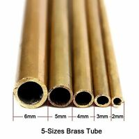 Round Brass Tube 5-Size: 2mm - 6mm Inner Diameter 300mm Length 0.45mm Thickness