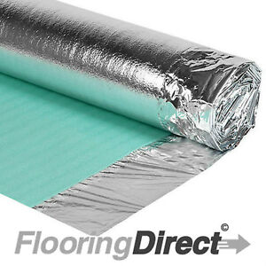 15m² Comfort Silver 1 Roll Acoustic DPM Wood and Laminate Flooring Underlay 3mm