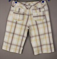 Columbia Damen Freizeit Chino Shorts Bermuda Größe 8 (W32) AMZ608