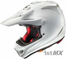 Arai MX-V MXV Plain White Motocross MX Offroad Race Helmet Adults Large 59-60cm