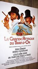 LA GRANDE ATTAQUE DU TRAIN D'OR  ! m crichton  s connery affiche cinema 1979