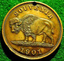 1901 HK 291 R-5 BUFFALO DOLLAR PAN AMERICAN EXPOSITION SOUVENIR MAY-NOVEMBER !!