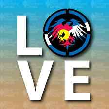 "I Love Colorado State Flag Never Summer 5"" Snowboard Custom Vinyl Decal Sticker"