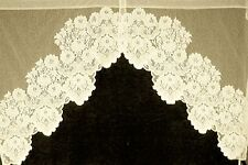 Curtain Swag Cleremont 60x38 Ecru 2-Piece Lace Curtain Heritage Lace