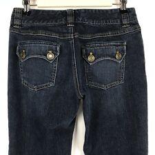 Michael Kors Womens Jeans Straight Leg Flap Pocket Dark Wash Size 6