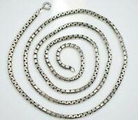 Lange 835 Silber Kette Signiert Runde Venezianerkette Unisex Breit XXL Massiv