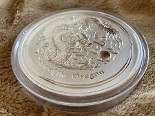 2012Australia Year of theDragon Lunar Series II 1 kg.999 Silver Coin (BU)