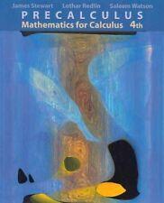 Good Book Precalculus Mathematics For Calculus James Stewart 4th Edit Hardcover