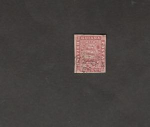 BR GUYANA 1863/76 FRIGATTE 8c IMPERF PROOF USED SG ILLUSTRATION 8