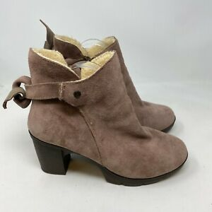 Bear Paw Eden Shearling Lined Boots sz 10 leather