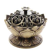 Lotus Cone Incense Burner Holder Flower Statue Censer Home Office Decor Gift !