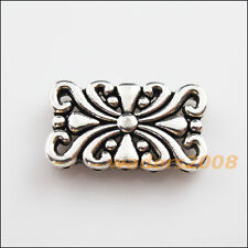 5 New Charms Tibetan Silver 5-5 Hole Flower Spacer Bar Beads Connectors 14x24mm