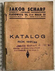 RARE! 1931 Polish Antique Cameras Catalog KATOWICE Lenses Photography Equipment
