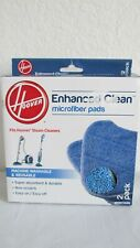 Hoover Enhanced Clean Microfiber Pads Machine Washable Reusable 2 pack NEW